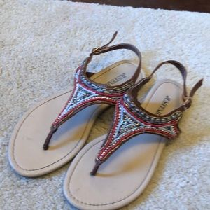Justfab sandals size 7.5